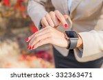 modern business woman checking... | Shutterstock . vector #332363471