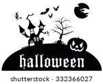 scary halloween | Shutterstock .eps vector #332366027