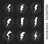 vintage lightning bolt signs on ... | Shutterstock .eps vector #332369564