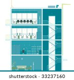 office building section | Shutterstock .eps vector #33237160