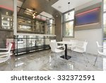 interior of a modern cafe bar  | Shutterstock . vector #332372591