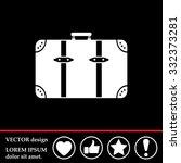 baggage vector icon | Shutterstock .eps vector #332373281