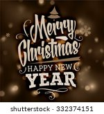 christmas typography label for... | Shutterstock .eps vector #332374151