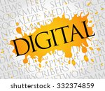 digital word cloud  business...   Shutterstock .eps vector #332374859