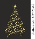 christmas tree. | Shutterstock .eps vector #332375585