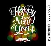 vector holidays lettering on...   Shutterstock .eps vector #332377874