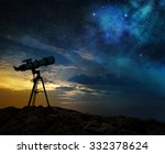 milky way at dawn and... | Shutterstock . vector #332378624