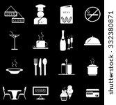 restaurant icon set illustration | Shutterstock .eps vector #332380871