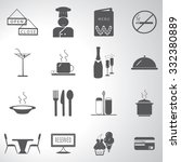 restaurant icon set illustration | Shutterstock .eps vector #332380889