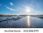 Sunset Over Lake  Jyvaskyla ...