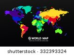 map of the world vector | Shutterstock .eps vector #332393324