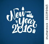 happy new year background.... | Shutterstock .eps vector #332393465