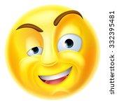 a charming emoji emoticon... | Shutterstock .eps vector #332395481