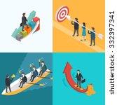 business  growth  teamwork ... | Shutterstock .eps vector #332397341