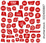 sale price tag collection | Shutterstock .eps vector #332400887