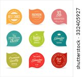 badges and labels collection | Shutterstock .eps vector #332405927