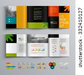 business brochure template...   Shutterstock .eps vector #332410127