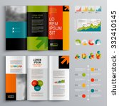 business brochure template... | Shutterstock .eps vector #332410145
