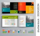 business brochure template...   Shutterstock .eps vector #332410154