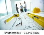 engineering objects on... | Shutterstock . vector #332414801