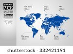 map of the world with countries ... | Shutterstock .eps vector #332421191