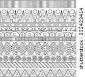 ethnic geometric seamless... | Shutterstock .eps vector #332423414