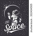 t shirt design print. space... | Shutterstock .eps vector #332434505