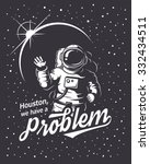 t shirt design print. space... | Shutterstock .eps vector #332434511