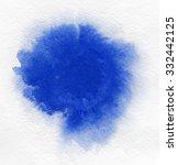 watercolor. abstract blue spot... | Shutterstock . vector #332442125