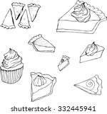 black and white hand drawn... | Shutterstock .eps vector #332445941