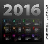 minimalistic dark multicolor... | Shutterstock .eps vector #332450225