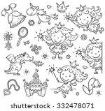 little cartoon fairy set with a ... | Shutterstock .eps vector #332478071
