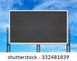 large sign board with blue sky... | Shutterstock . vector #332481839