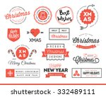 set of beautiful christmas... | Shutterstock .eps vector #332489111