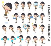 a set of shcool girl with... | Shutterstock .eps vector #332489855