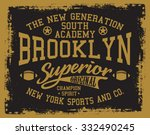 brooklyn graphic design ... | Shutterstock .eps vector #332490245
