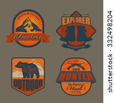 logo vintage outdoor theme ... | Shutterstock .eps vector #332498204