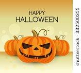 halloween vector card | Shutterstock .eps vector #332500355