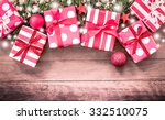 christmas presents with... | Shutterstock . vector #332510075