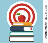 vector stack of books with... | Shutterstock .eps vector #332513351