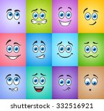 different funny emotions with... | Shutterstock .eps vector #332516921