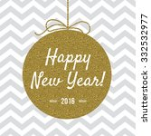 happy new year 2016 card with... | Shutterstock .eps vector #332532977