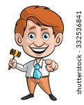 auction man with the gavel and... | Shutterstock .eps vector #332536841