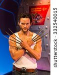 Small photo of LOS ANGELES, USA - SEP 28, 2015: Hugh Jackman as Wolverine in the Madame Tussauds Hollywood wax museum. Marie Tussaud was born as Marie Grosholtz in 1761