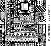 black and white tribal african... | Shutterstock .eps vector #332540447
