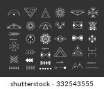 set of geometric shapes. trendy ... | Shutterstock .eps vector #332543555