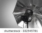 photography studio strobe flash ... | Shutterstock . vector #332545781