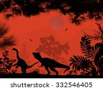 Dinosaurs Silhouettes In...