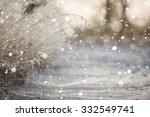 snowfall in the field. bush... | Shutterstock . vector #332549741