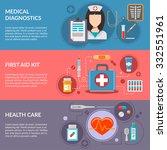three medical horizontal... | Shutterstock .eps vector #332551961